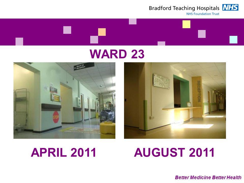 WARD 23 Better Medicine Better Health APRIL 2011AUGUST 2011