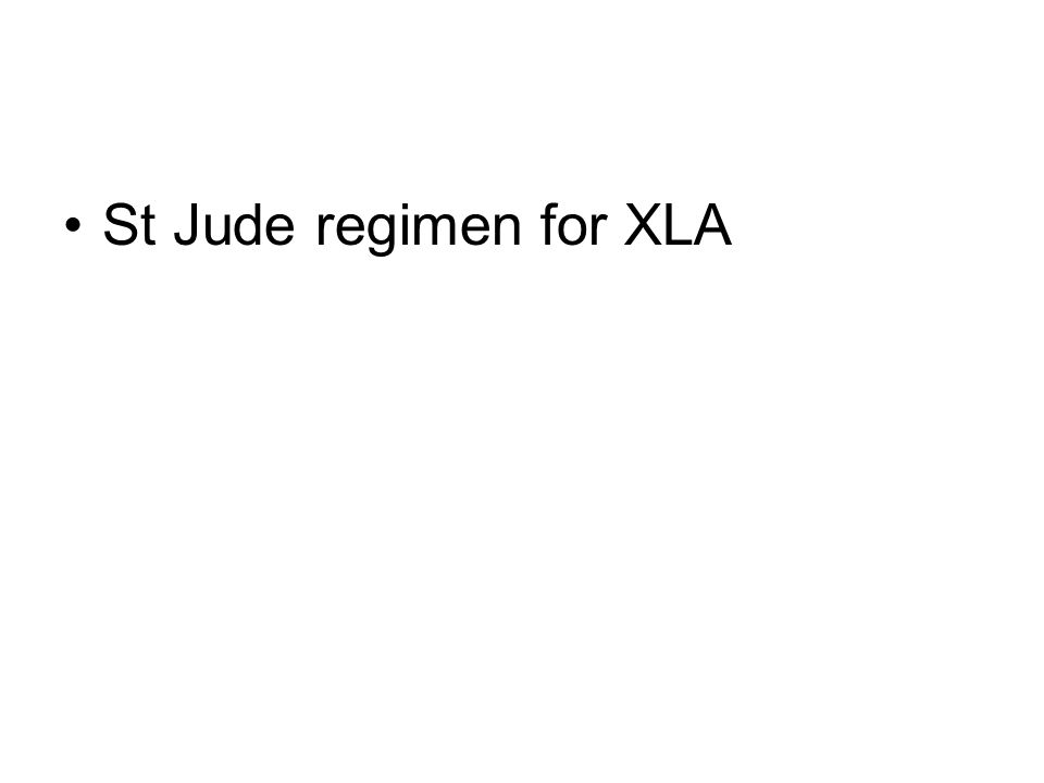 St Jude regimen for XLA