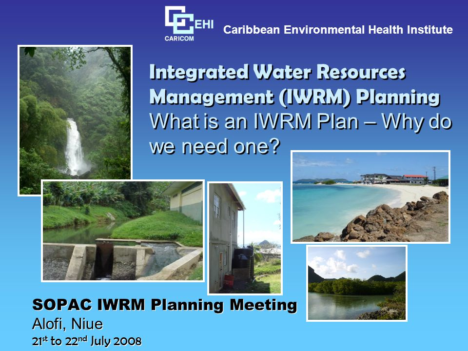 Where might an IWRM Plan fit.