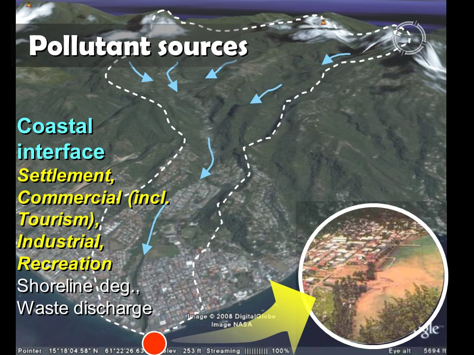 Coastal interface Settlement, Commercial (incl. Tourism), Industrial, Recreation Shoreline deg., Waste discharge Coastal interface Settlement, Commerc