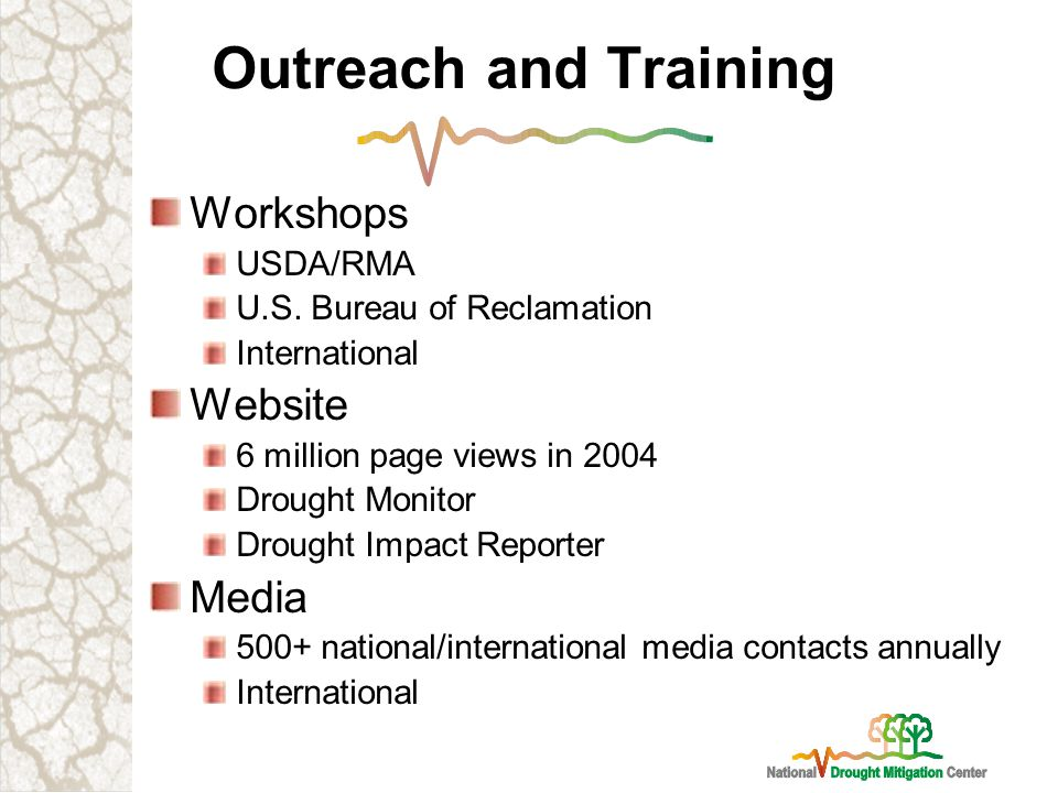 Outreach and Training Workshops USDA/RMA U.S.