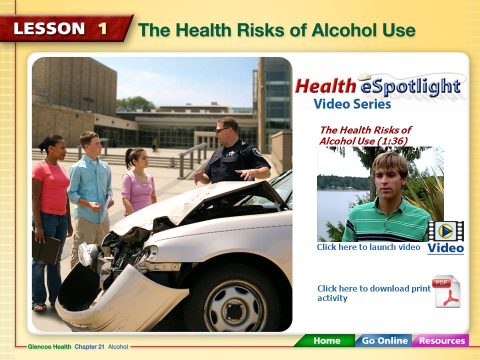 Short-Term Effects of Alcohol The amount of alcohol that can cause intoxication varies from person to person.