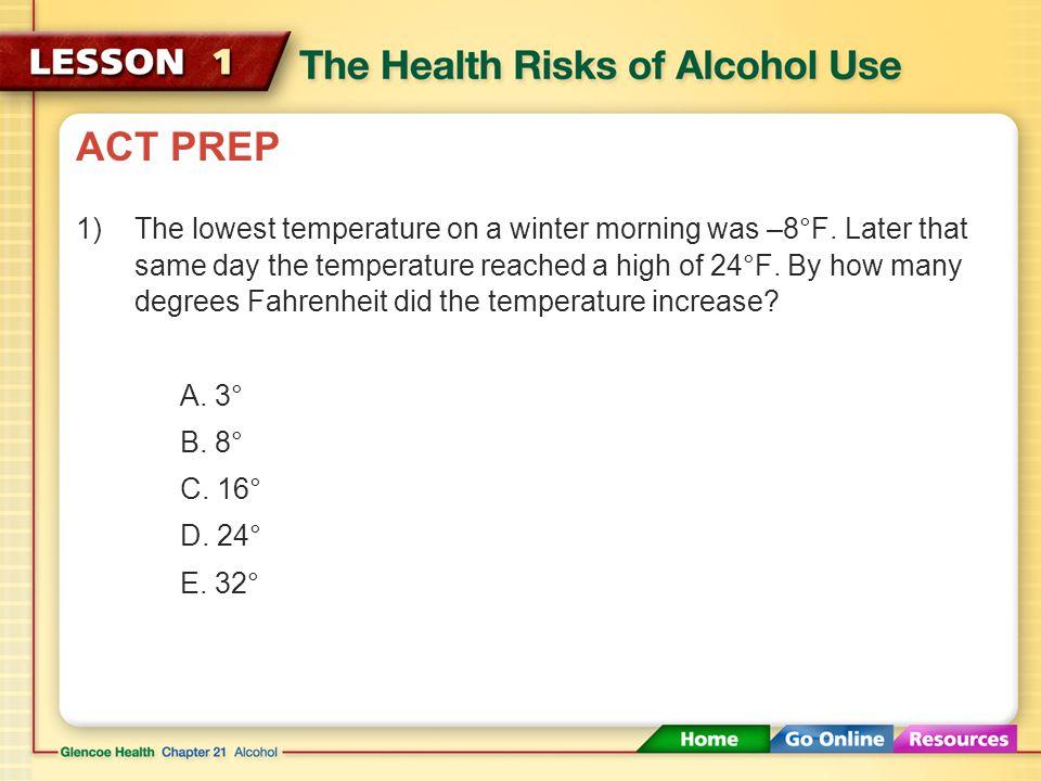 Ethanol – Pg. 566 Fermentation – Pg. 566 Depressant – Pg. 567 Intoxication – Pg. 567 binge drinking – Pg. 569 alcohol poisoning – Pg. 569 Do Now: Pick