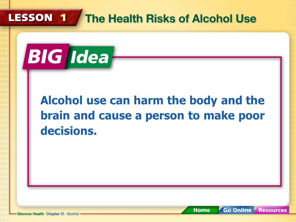 Long-Term Effects of Alcohol Excessive alcohol use over a long period of time can damage the pancreas.