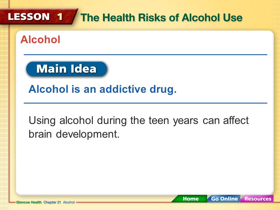 Long-Term Effects of Alcohol If a person stops using alcohol, some of the physical effects of long-term alcohol use can be reversed over time.