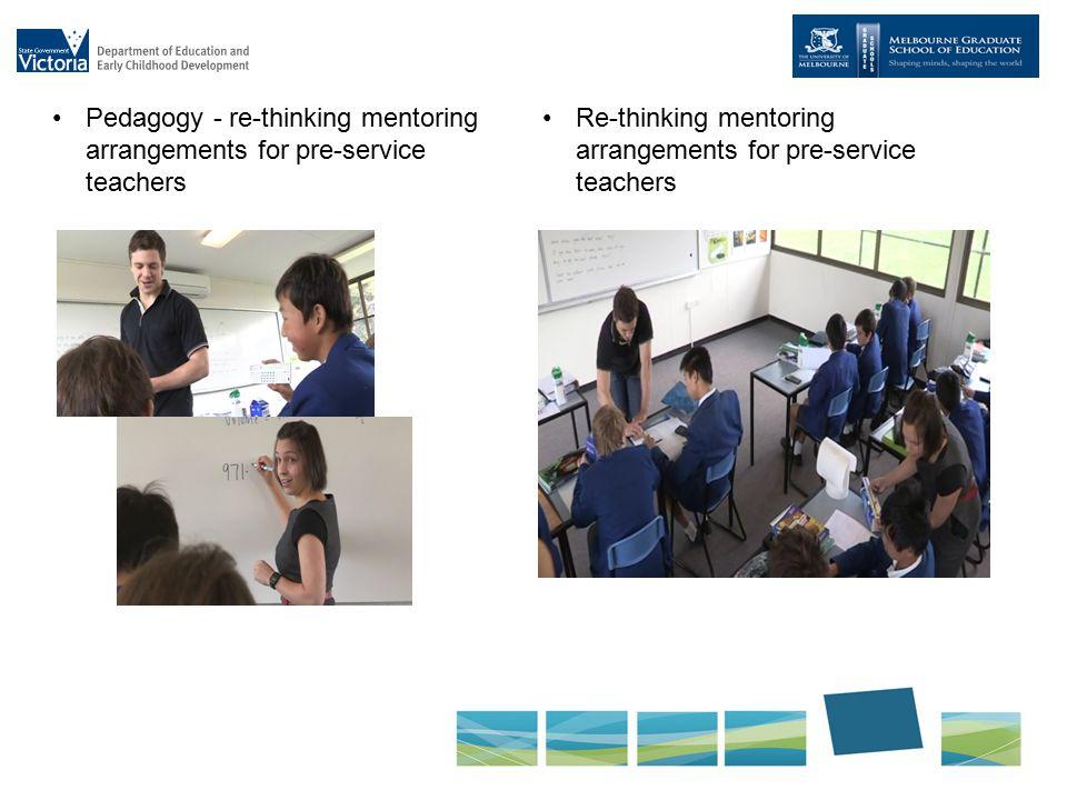 Pedagogy - re-thinking mentoring arrangements for pre-service teachers Re-thinking mentoring arrangements for pre-service teachers