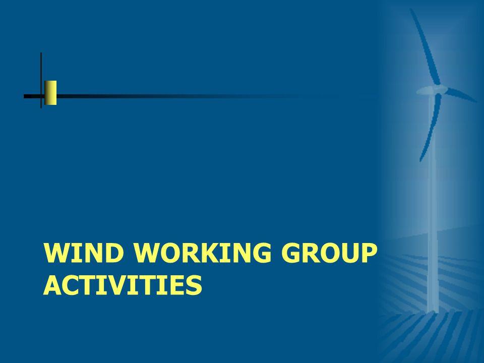 WIND WORKING GROUP ACTIVITIES