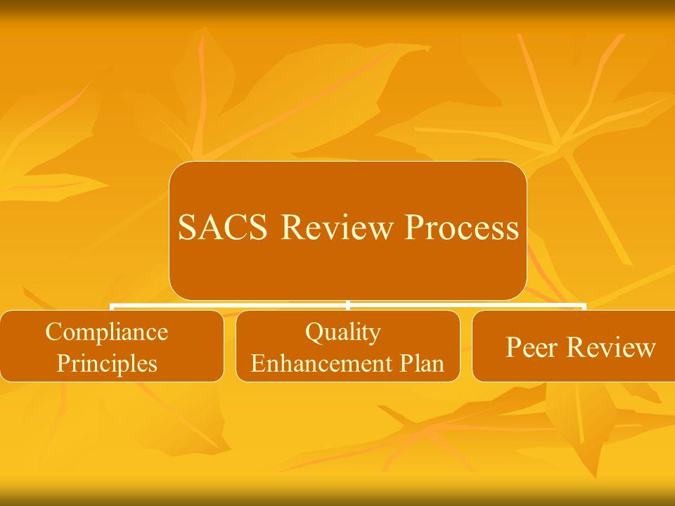 SACS Review Process Compliance Principles Quality Enhancement Plan Peer Review