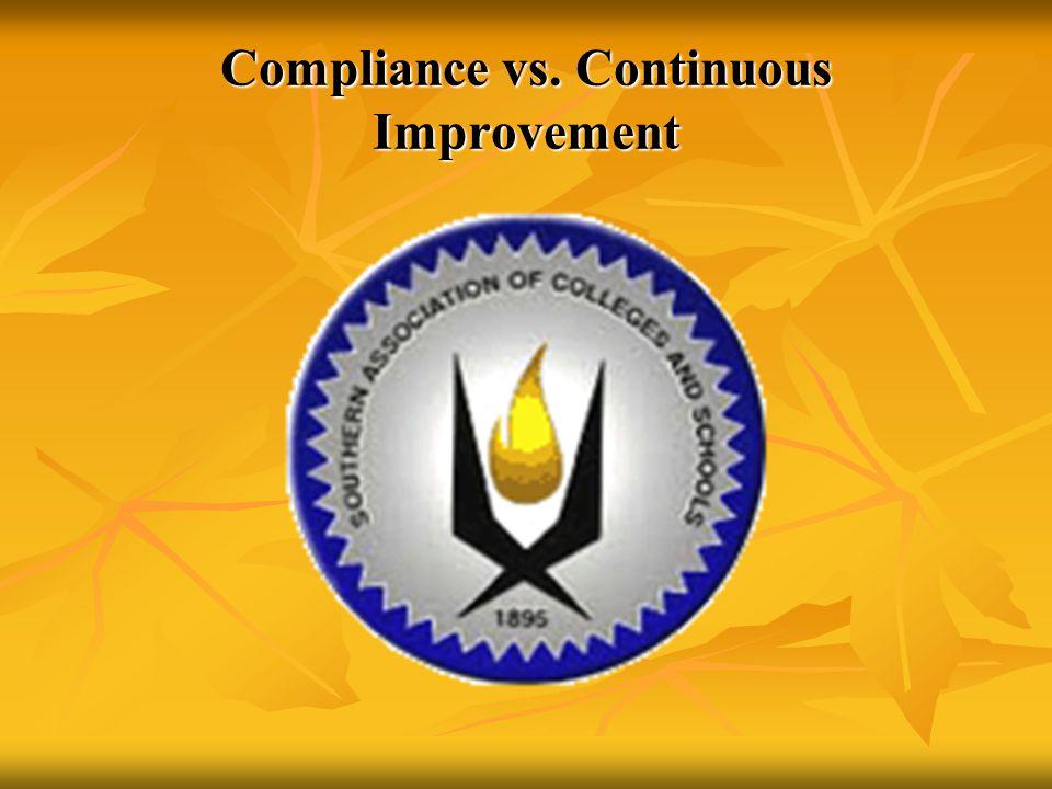 Compliance vs. Continuous Improvement