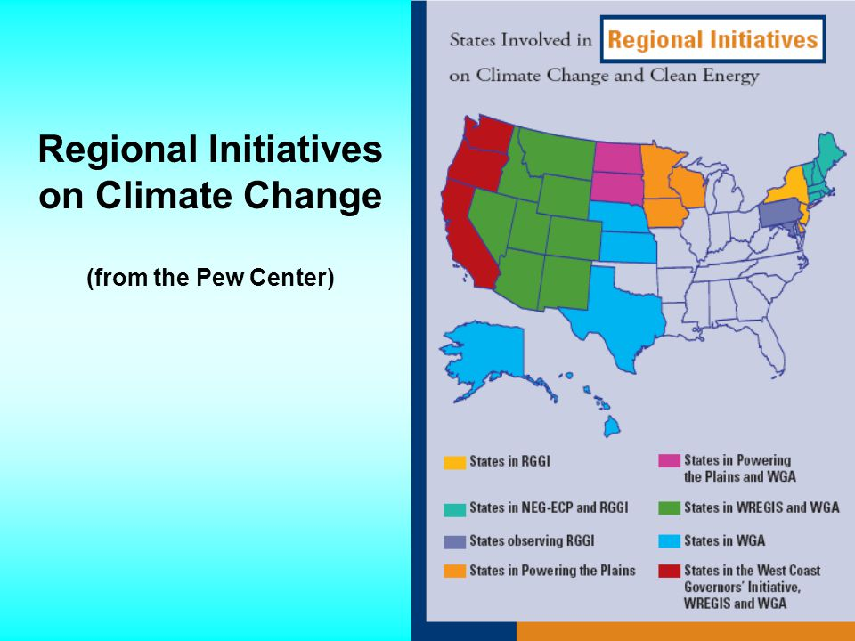 Regional Initiatives on Climate Change (from the Pew Center)