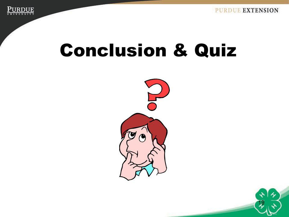 19 Conclusion & Quiz
