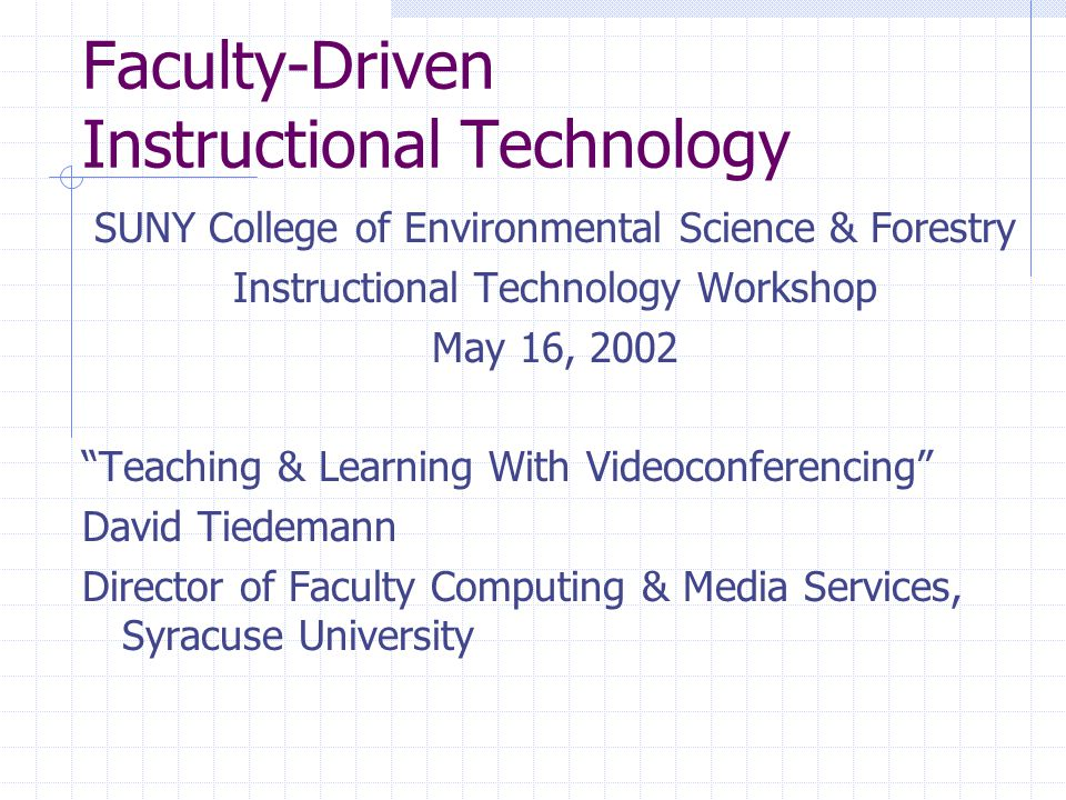 Today's Topics Why Videoconference.