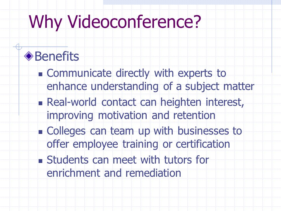 Videoconferencing Tips: On Air Continued Protocols for Transmission Delays Pauses Avoid simultaneous speech Pacing - Vary Formats Frequently.