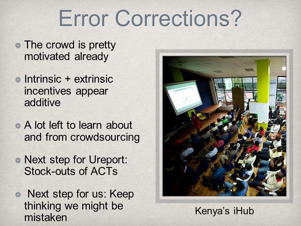 Error Corrections.
