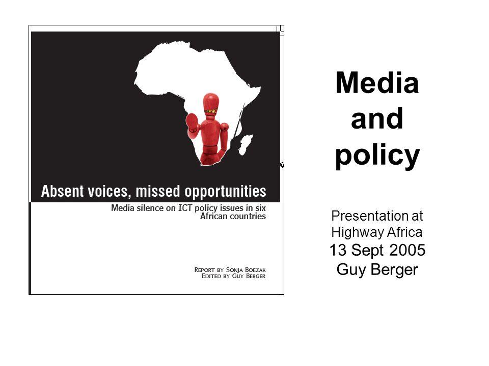 3.Bypassing Civil Society GOVT RESPONDS MEDIA COVERAGE = PUBLIC OPINION i.e.
