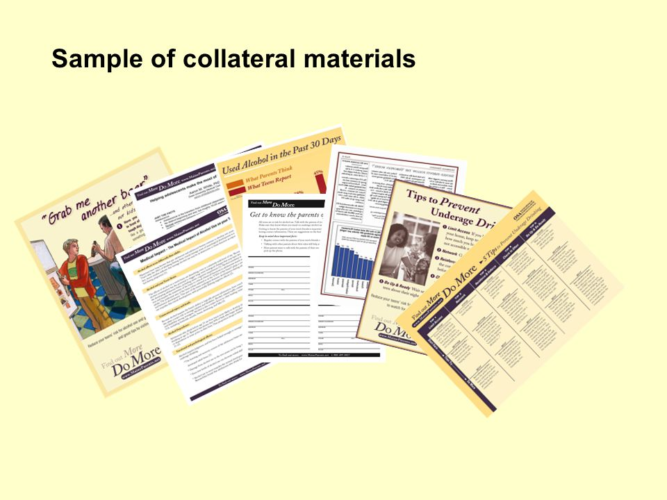 Sample of collateral materials