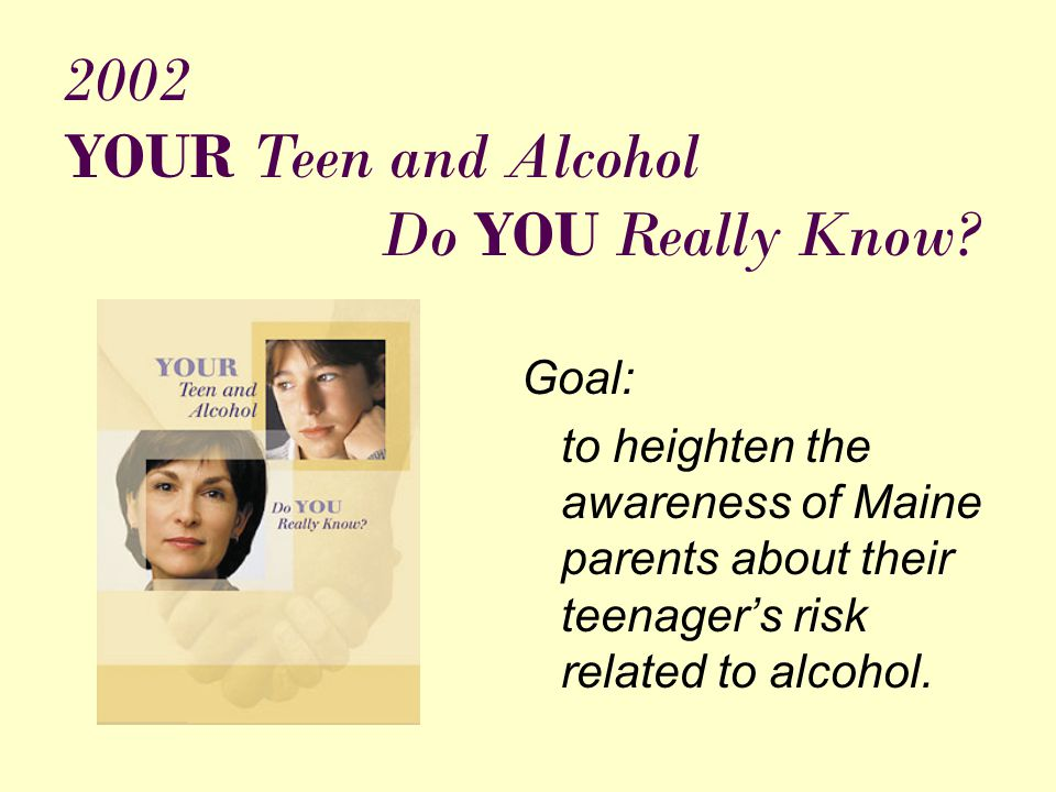 Components of YOUR Teen and Alcohol Do YOU Really Know.