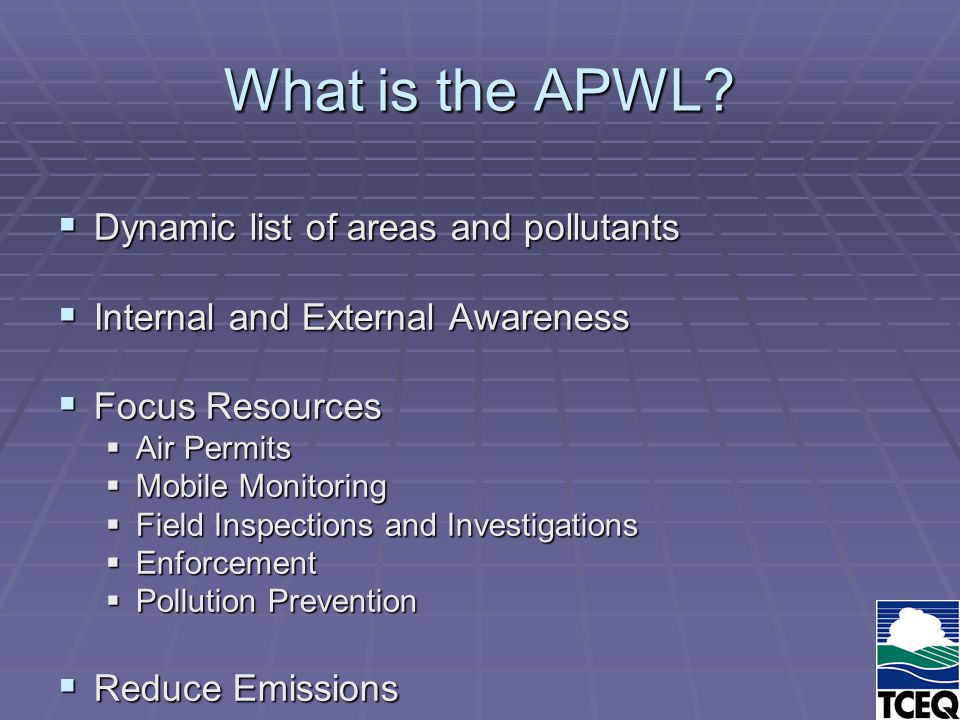 What is the APWL.