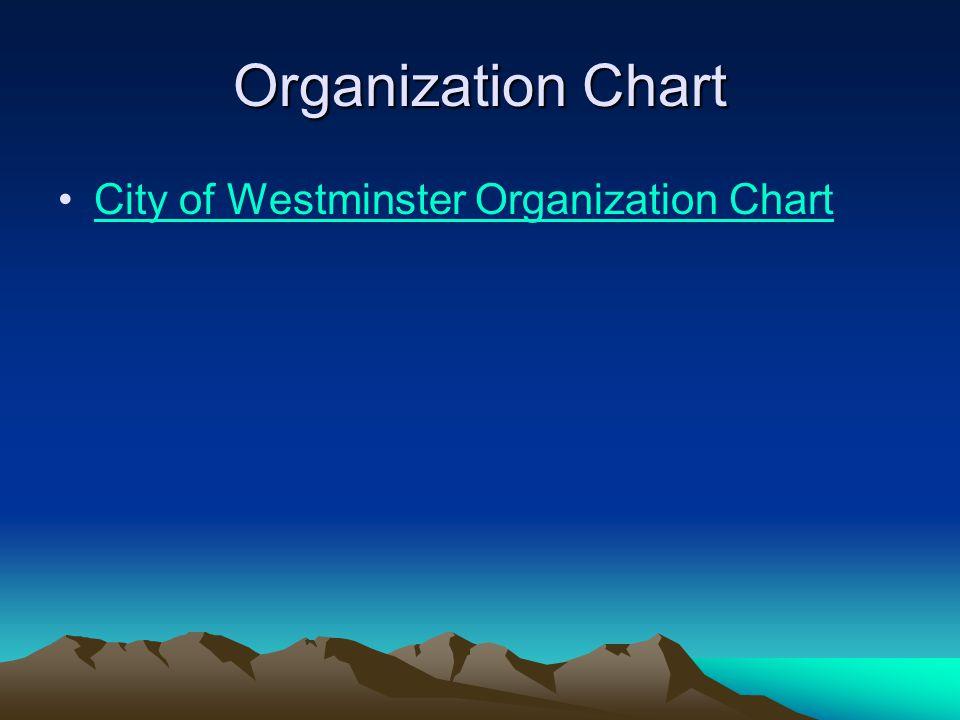 Organization Chart City of Westminster Organization Chart