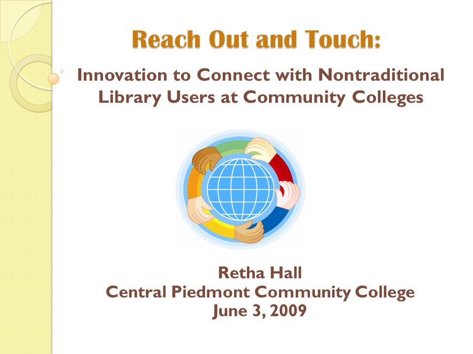 Librarians at Central Campus are reaching out.Have you heard.