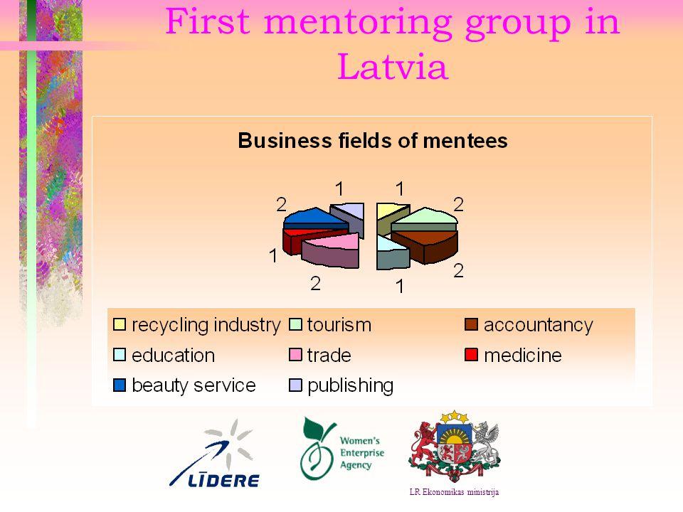 First mentoring group in Latvia LR Ekonomikas ministrija