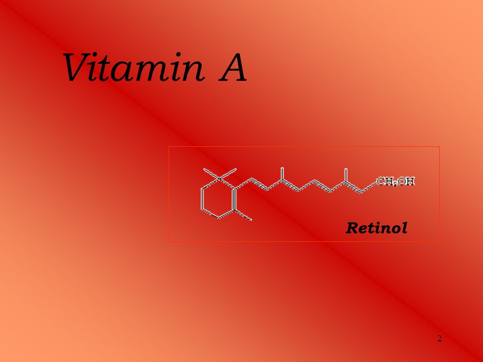 3 Vitamin A Functions - play an important role in vision, bone growth, reproduction, cell division and cell differentiation - helps prevent or fight off infections by making white blood cells that destroy harmful bacteria and viruses Symptoms of deficiency - pancreatic disorder – pancreatic secrets enzymes are important for fat absorptions - twilight blindness - damage of teeth Resources - liver - milk and milk products - fruits and vegetables (provitamin)