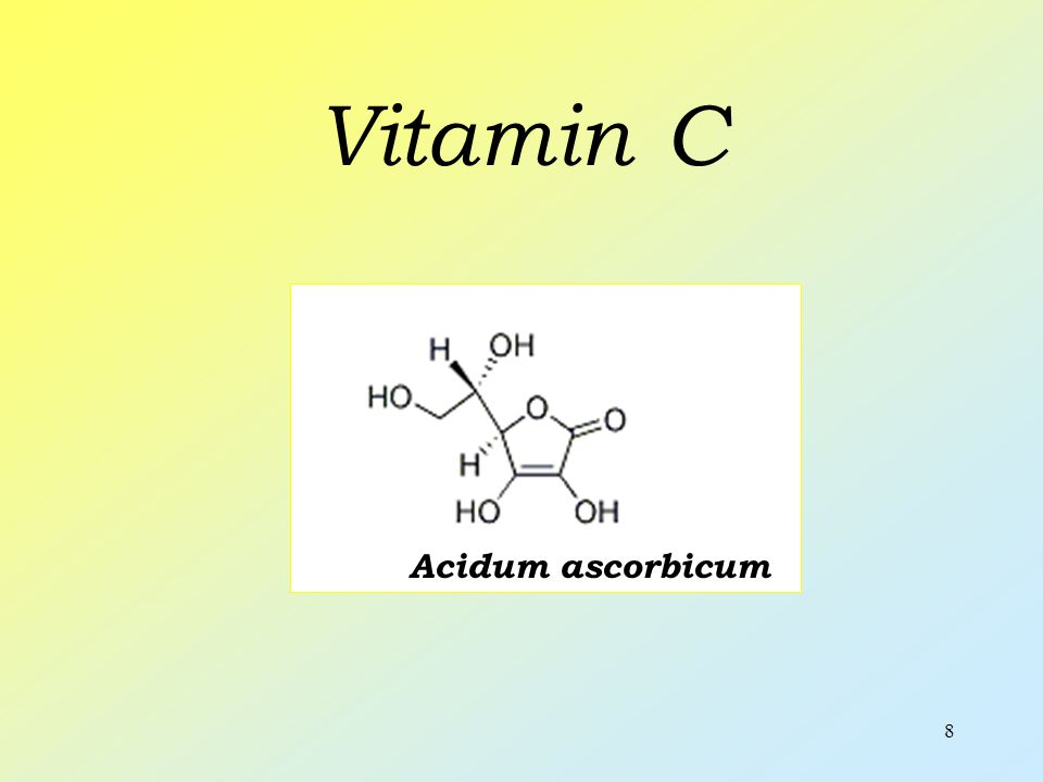 9 Vitamin C Symptoms of deficiency - weight loss - dry skin - scurvy Functions - important for keeping body tissues - hydroxylation of collagen and steroids - it's powerful antioxidant - helps your body resist infections Resources - hips - citruses - blackcurrant - green peppers