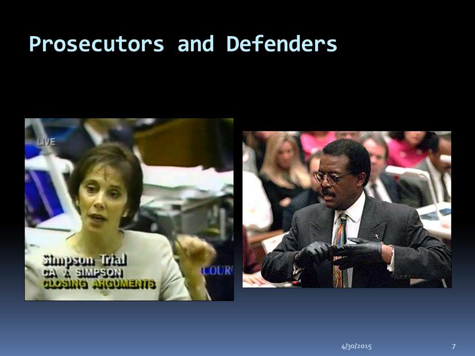 Prosecutors and Defenders 4/30/2015 7