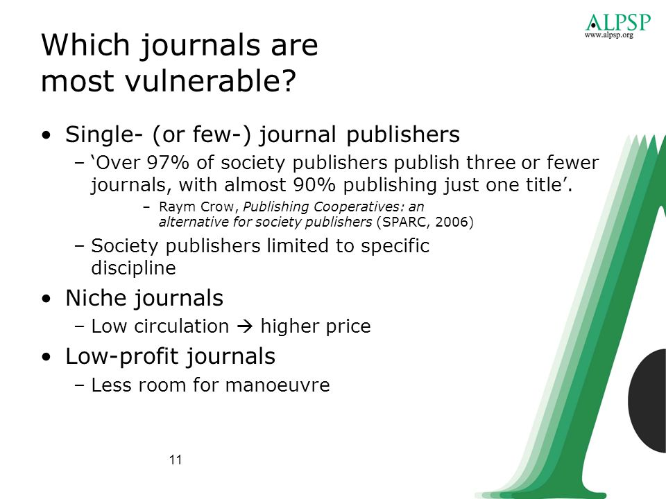 11 Which journals are most vulnerable.