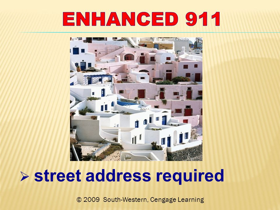 © 2009 South-Western, Cengage Learning  street address required
