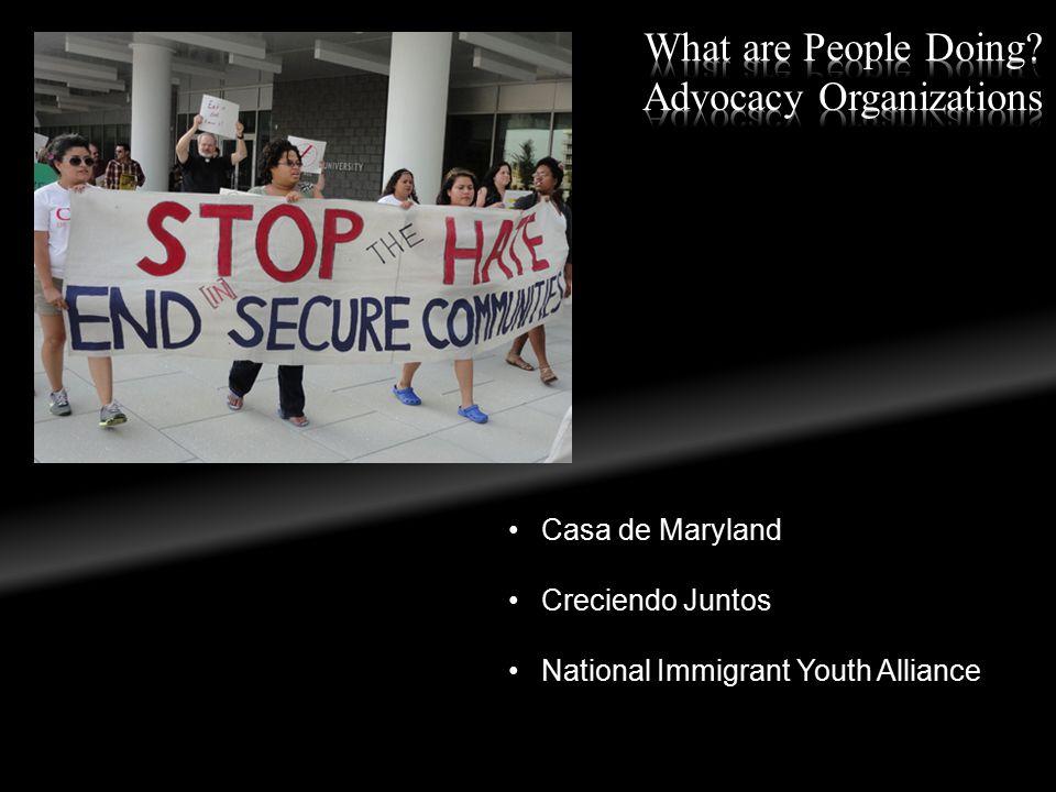 Casa de Maryland Creciendo Juntos National Immigrant Youth Alliance