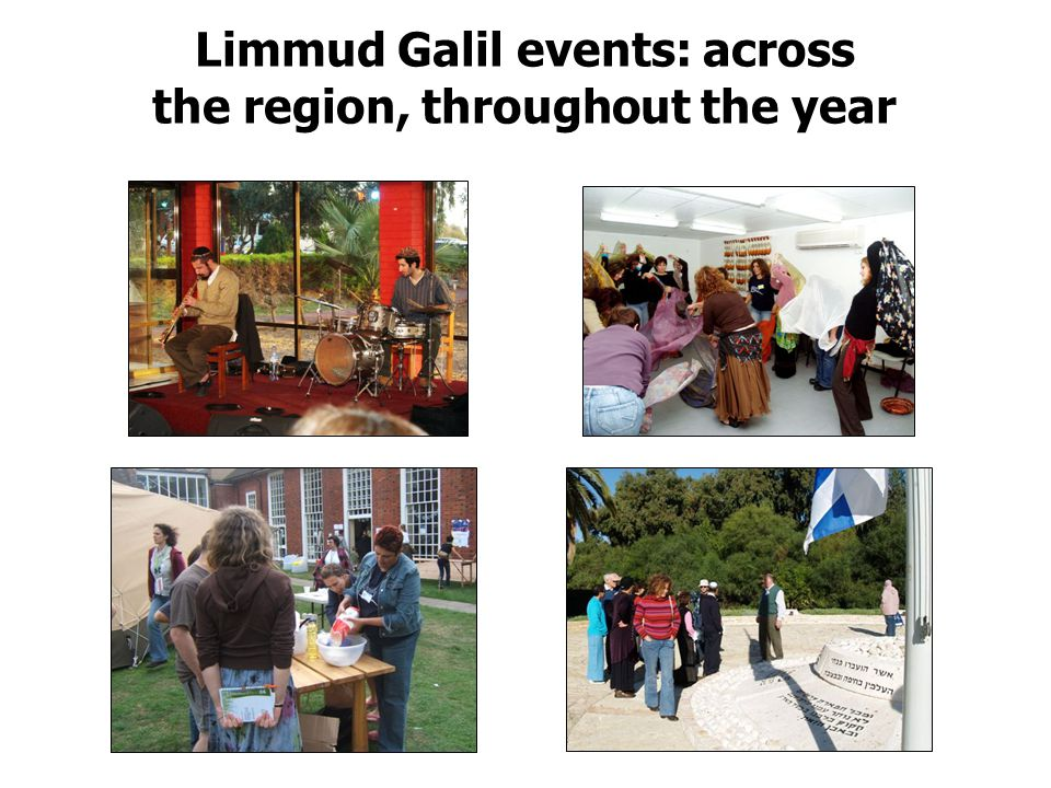 Limmud Galil events: across the region, throughout the year