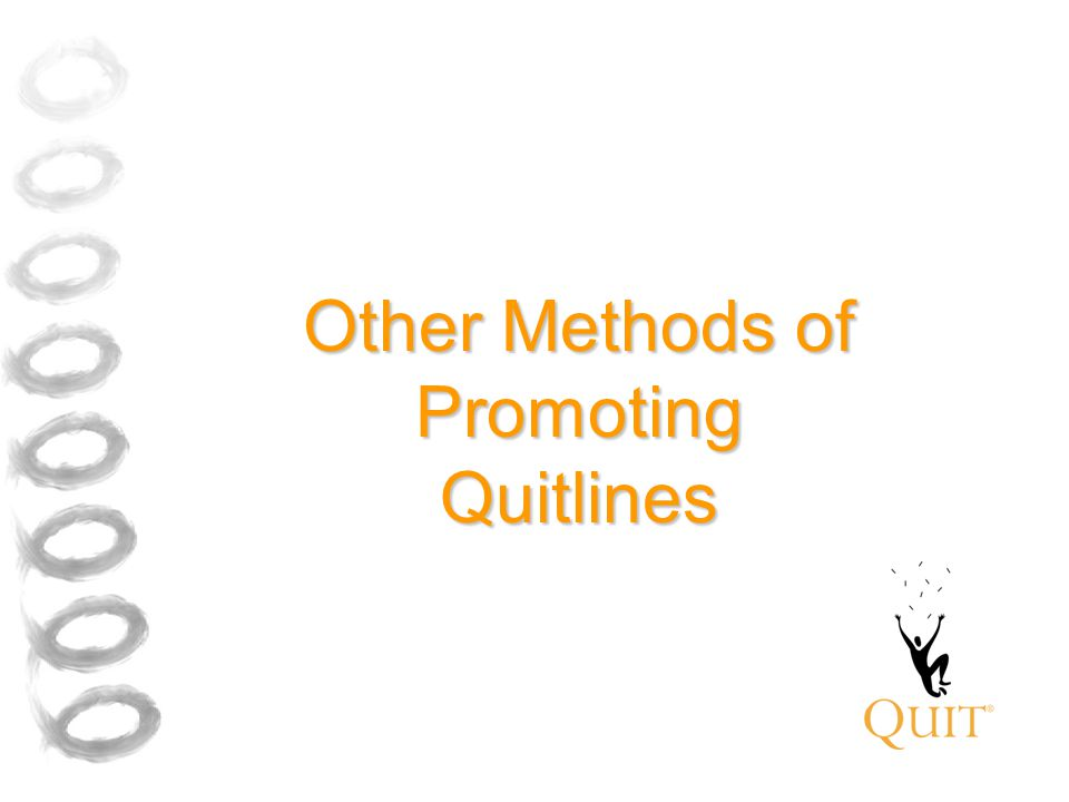 Other Methods of Promoting Quitlines