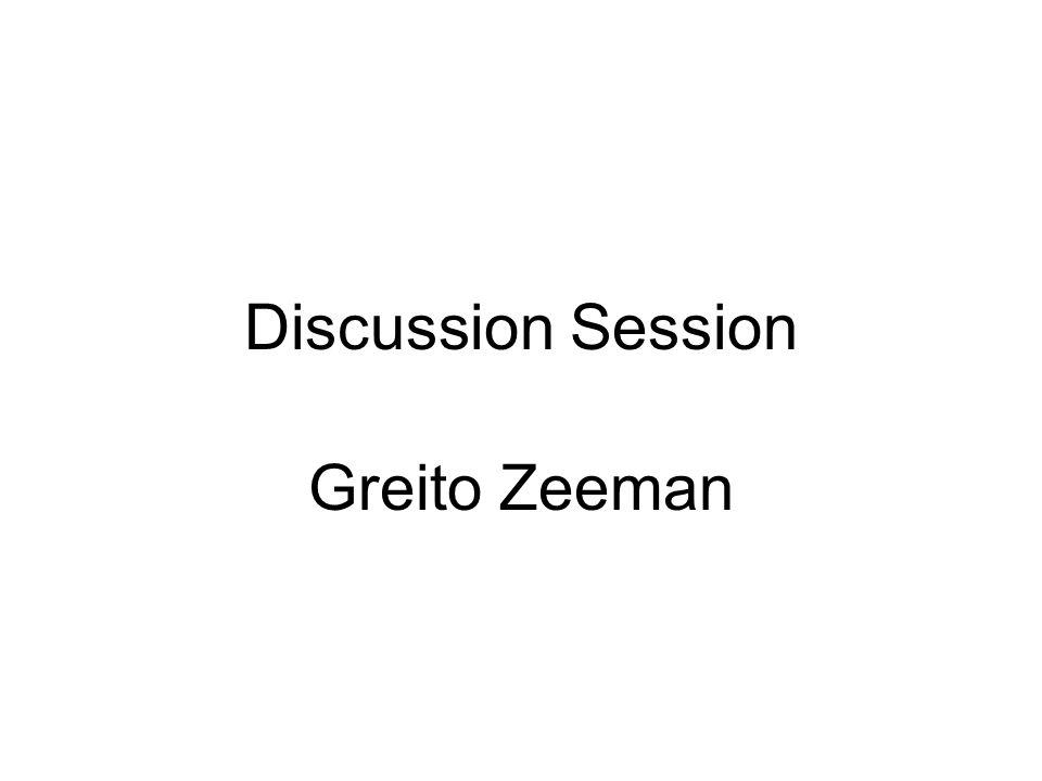 Discussion Session Greito Zeeman