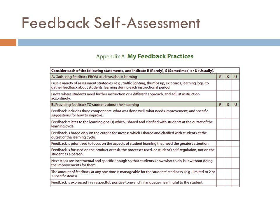 Feedback Self-Assessment
