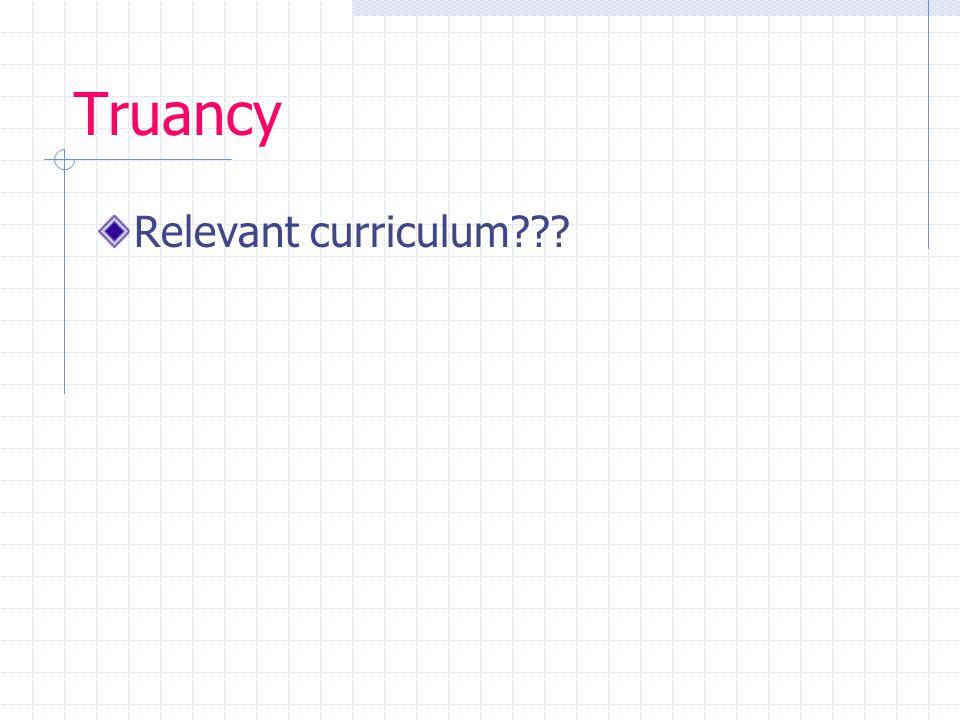 Truancy Relevant curriculum???