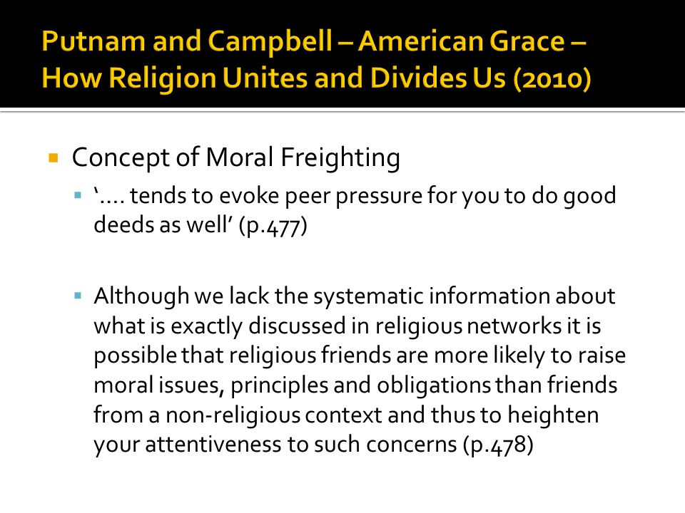  Concept of Moral Freighting  '….