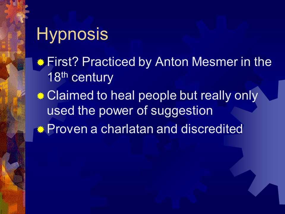  The word hypnotism was coined in 1843 by James Braid  He used hypnotism as an anesthesia for surgery  But it could not compete with new more powerful medications for anesthesia