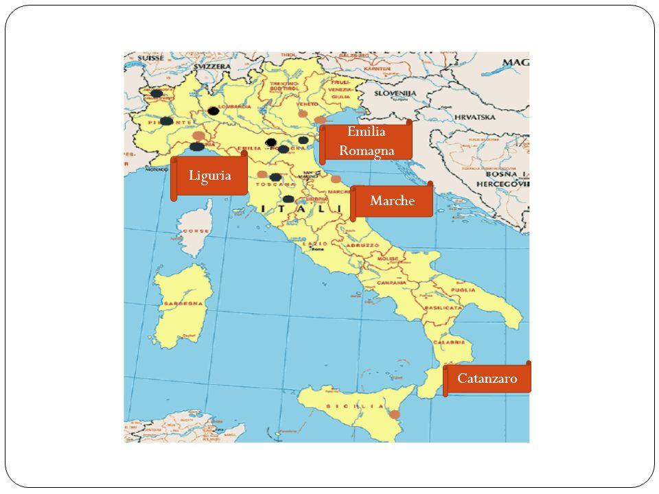 Catanzaro Marche Emilia Romagna Liguria