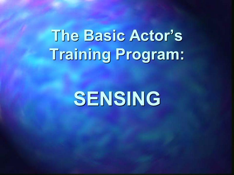 The Basic Actor's Training Program: SENSING