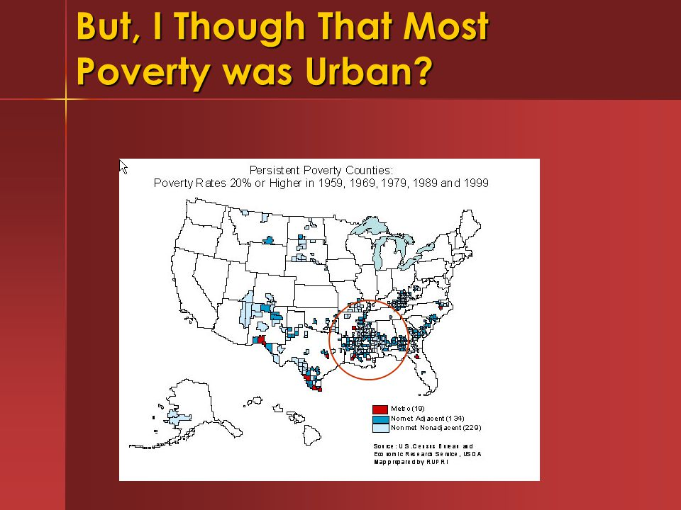 But, I Though That Most Poverty was Urban