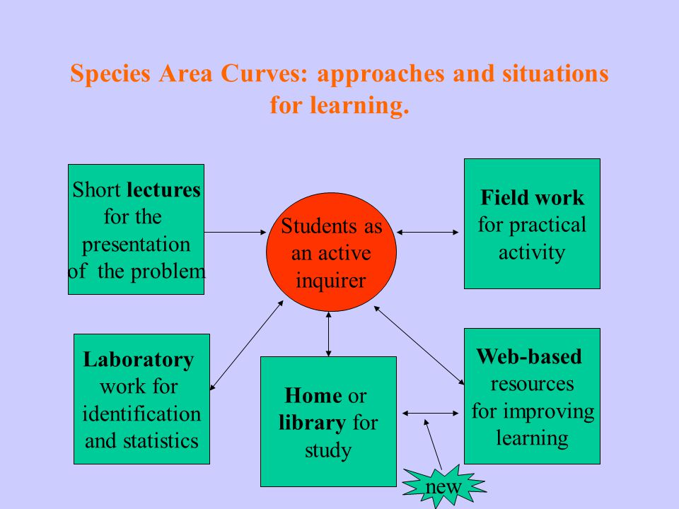 Species Area Curves: approaches and situations for learning.