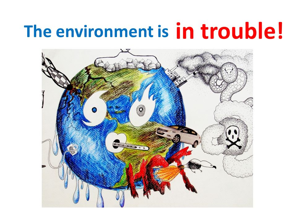 The environment is in trouble!