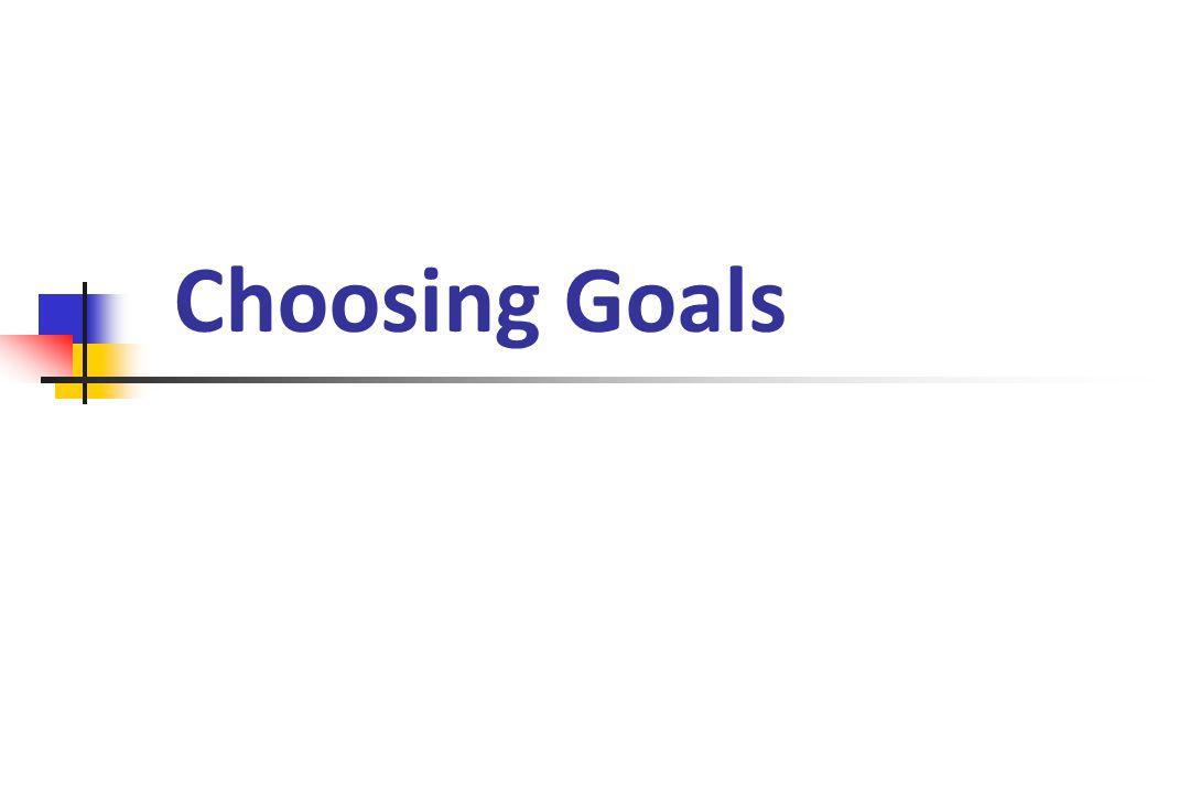 Choosing Goals