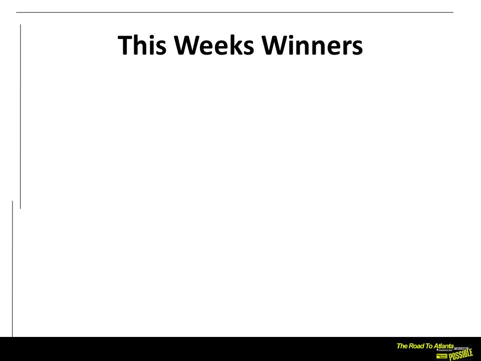 This Weeks Winners