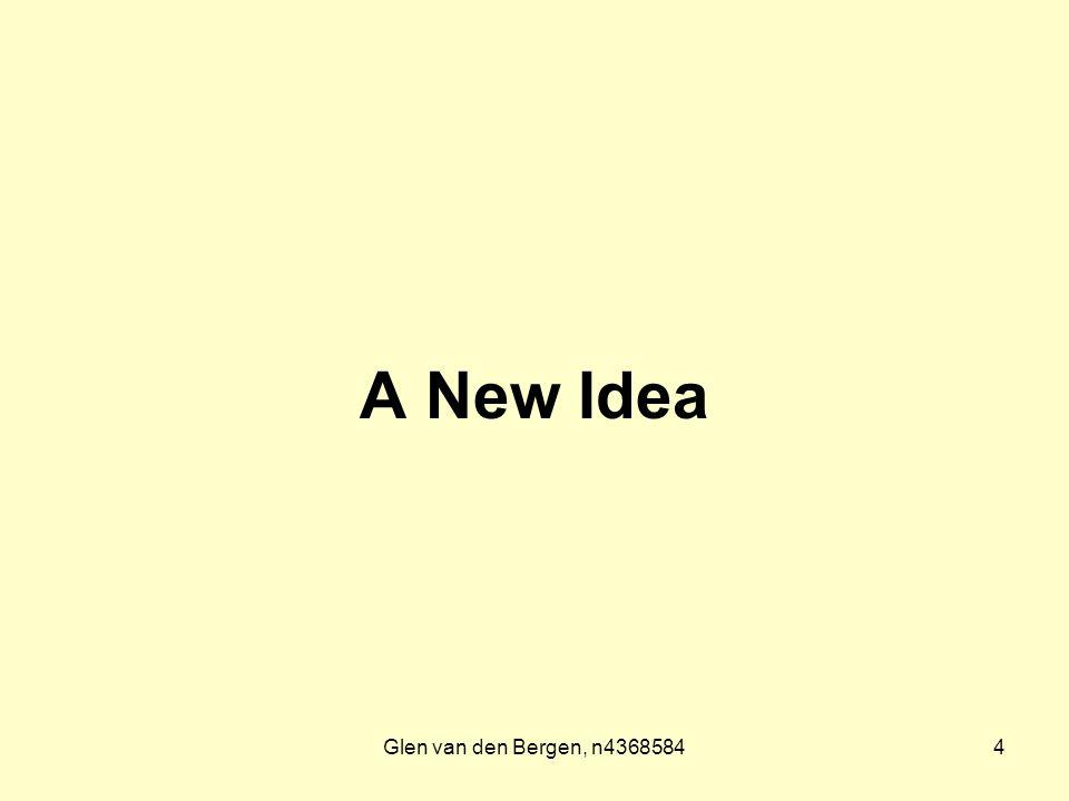 Glen van den Bergen, n43685844 A New Idea