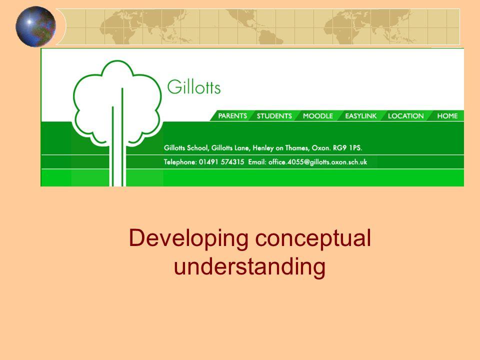 Developing conceptual understanding