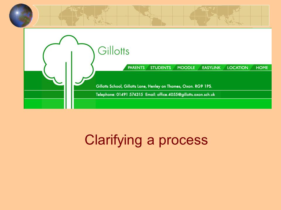 Clarifying a process