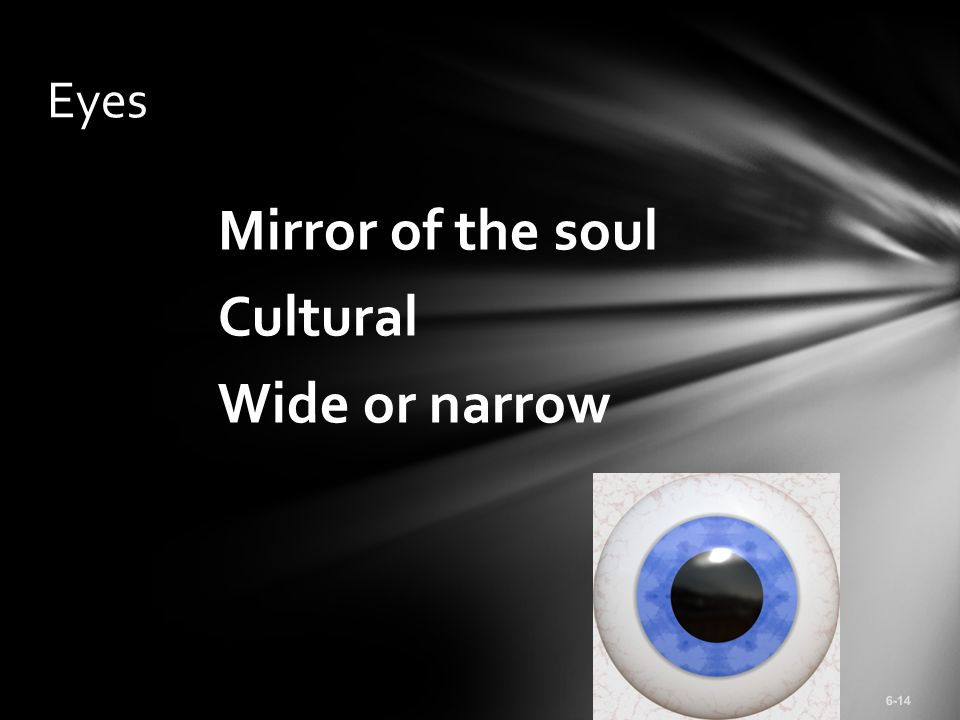 Mirror of the soul Cultural Wide or narrow Eyes 6-14