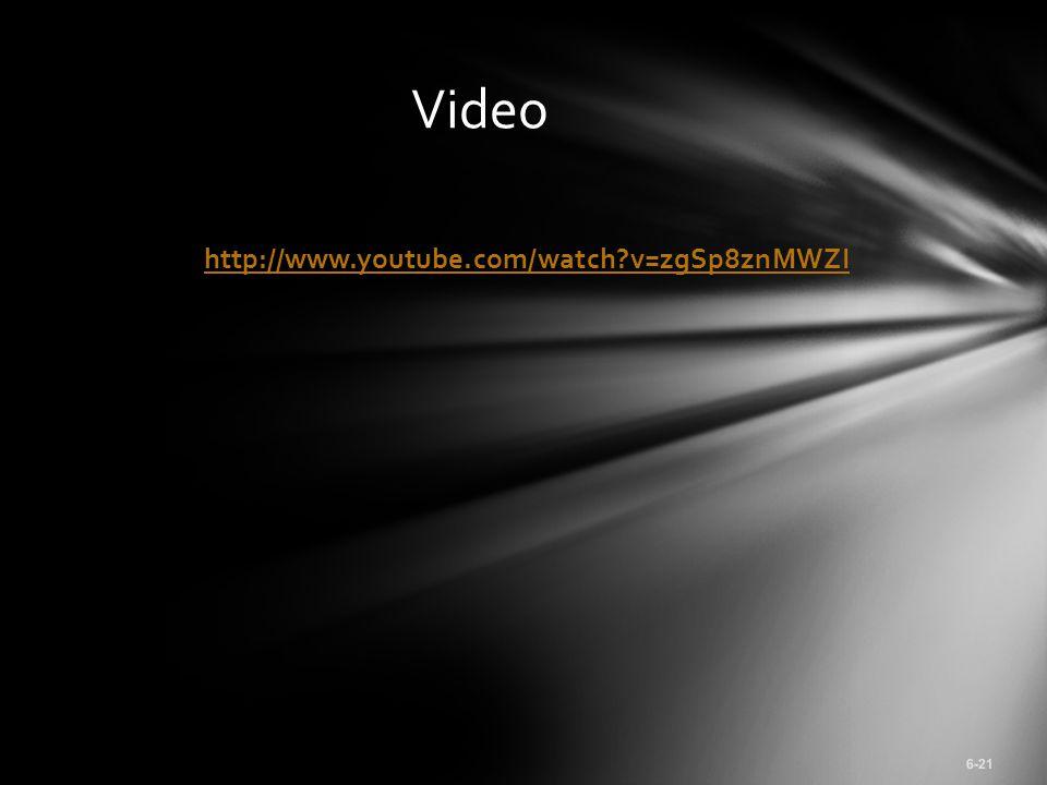 http://www.youtube.com/watch?v=zgSp8znMWZI 6-21 Video